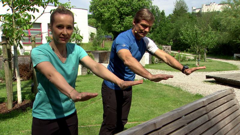 Doresia Krings und Michael Mayrhofer im Fernsehgartgen.