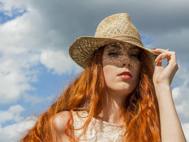 Frsau Haar Sonnenhut Sommer