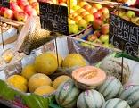 Melonen Markt Obst