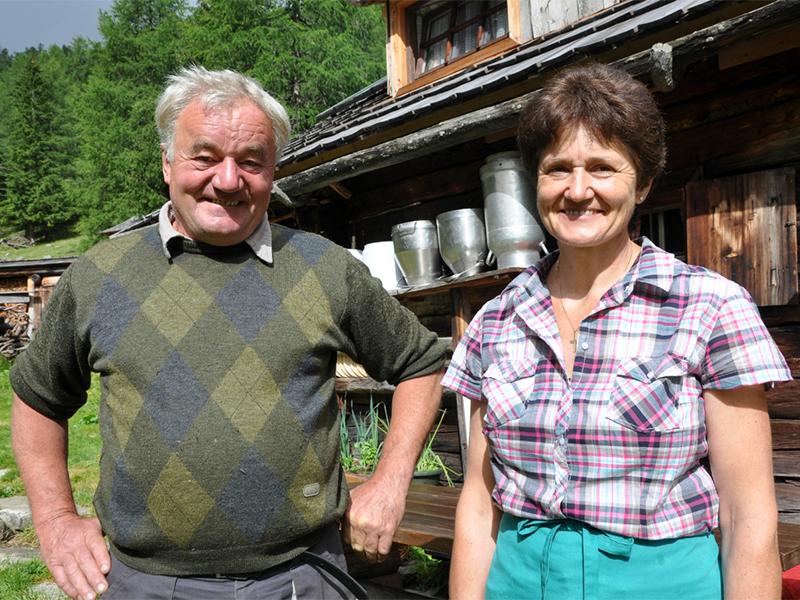 Hans und Juliane Sampl von der Stöcklalm in Muhr