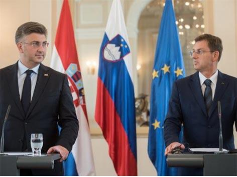 Arbitraža Cerar Plenković srečanje