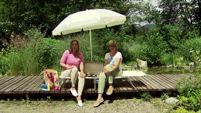 Christina Sonntag und Kornelia Seiwald im Fernsehgarten