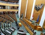 Plenarsaal des Nationalrats im Parlament