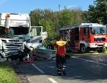Unfall Lkw Kollision Oberndorf
