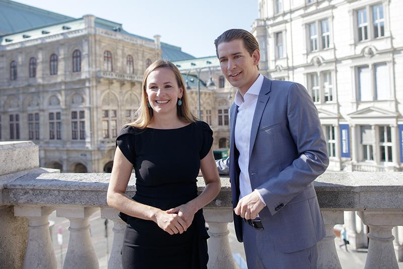Opernball-Organisatorin Maria Großbauer und Parteiobmann Sebastian Kurz