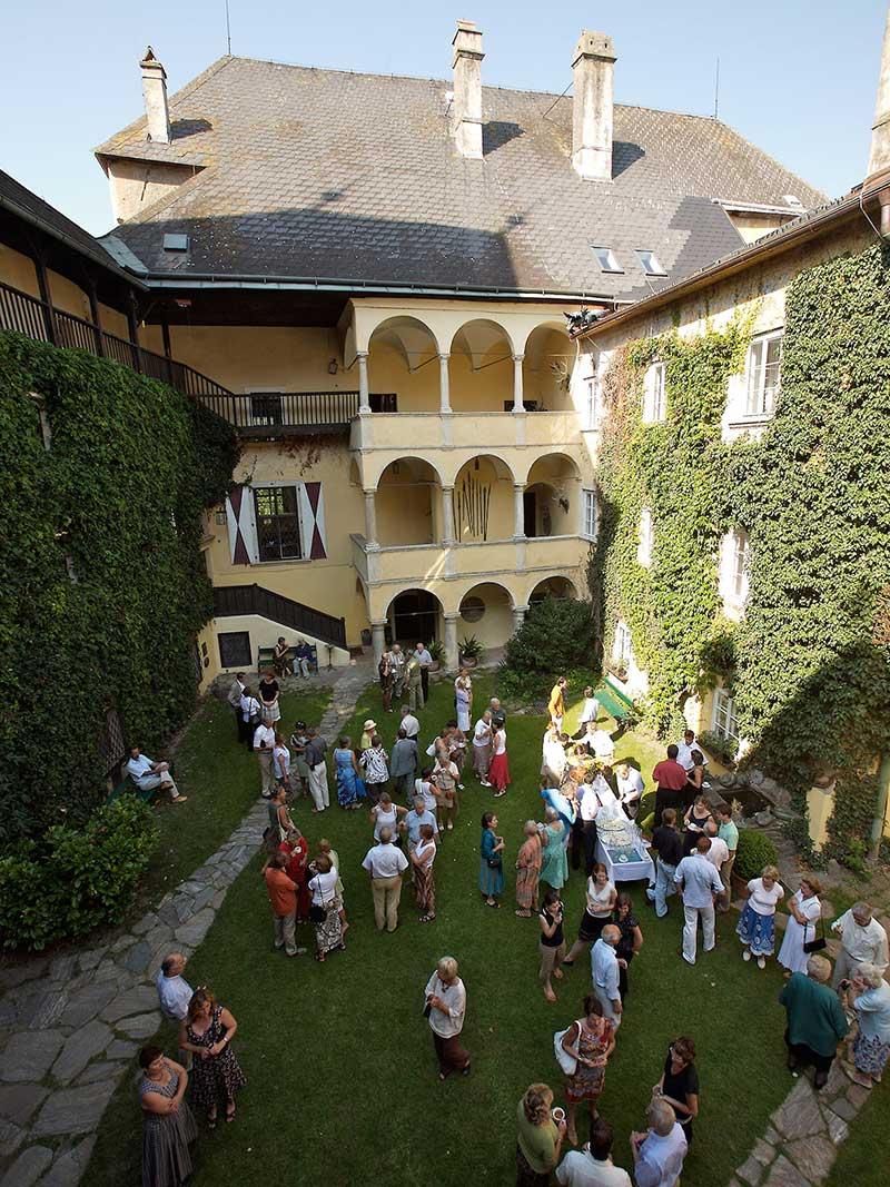 Innenhof Burg Feistritz