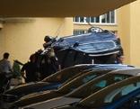 Pkw rammt Treppe im Sanatorium Wehrle