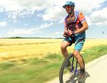 Einradfahrer Erwin Pieler