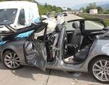 Verkehrsunfall A10 Auffahrunfall