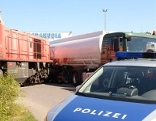 Zusammenstoß Güterzug Tankwagen