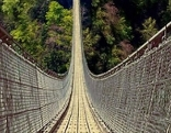 Fotomontage Hängebrücke