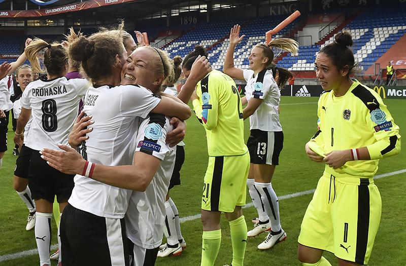 Frauen Fussball Europameisterschaft, Viertelfinale, zwischen Österreich und Spanien, am Sonntag, 30. Juli 2017, in Tilburg, Niederlande