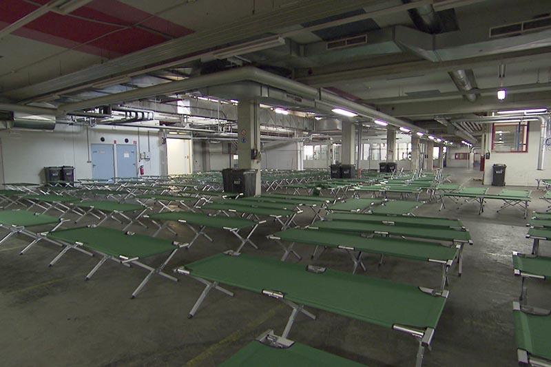 Asylquartiere stehen leer