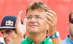 Organisator Hannes Jagerhofer am Sonntag, 06. August 2017, bei der Beach-Volleyball-WM auf der Donauinsel in Wien