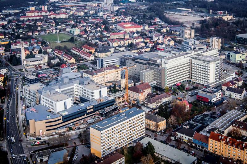 Bauarbeiten Universitätsklinikum St. Pölten