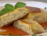 Grießstrudel mit Tomatensauce