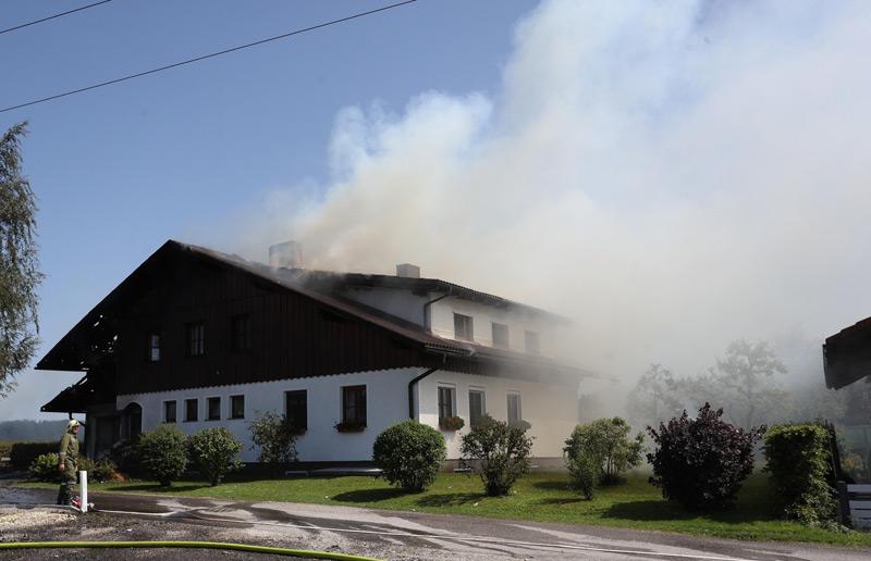 Wohnhausbrand in St. Marienkirchen am Hausruck