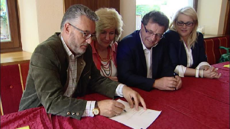 Josef Schett, Maria Zwölfer und Hans Linenberger