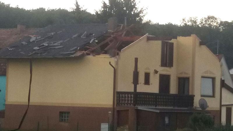 škoda od vihora Vulkaprodršorf