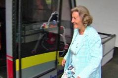 Elisabeth Mair besteigt die Venetbahn