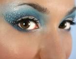 Augen Frau Make-up metallisch