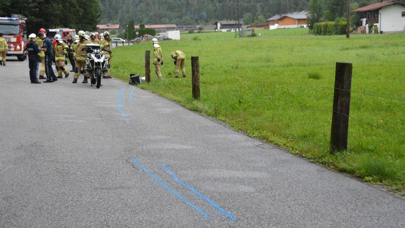 Motorradunfall Kössenerstraße