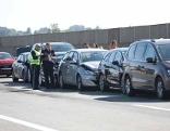 Stau nach Auffahrunfall acht Autos Vorchdorf A1