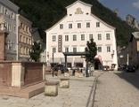 Kornsteinplatz in der Altstadt von Hallein