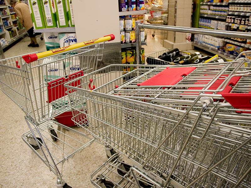 Supermarkt Billa Einkaufswagen