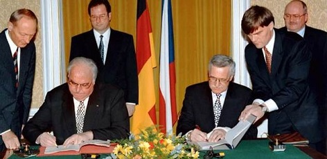 Podpis Česko-Německé Deklarace o vzájemných vztazích a jejich budoucím rozvoji 21. ledna 1997