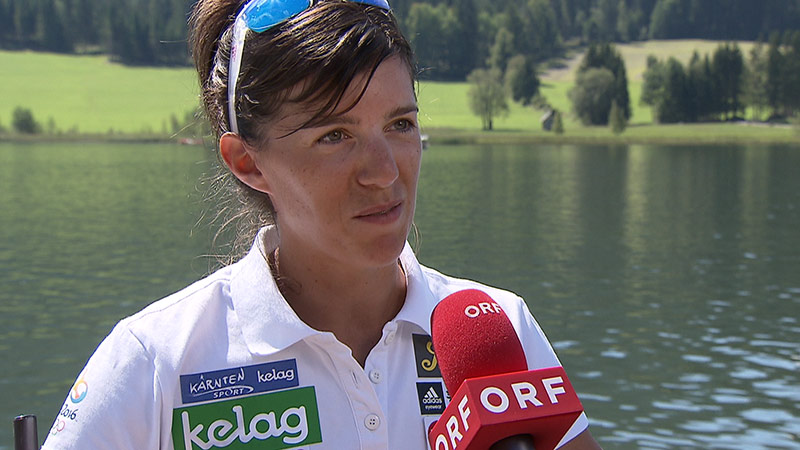 Magdalena Lobnig Training WM Weißensee
