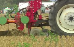 Traktoren, die pflügen