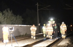 Feuerwehreinsatz auf Bahnstrecke