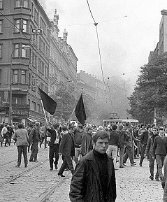 Dobové fotografie z Prahy ze srpna 1968