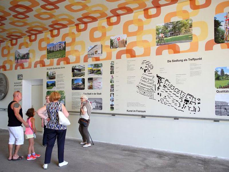 Ausstellung in der Per-Albin-Hansson-Siedlung