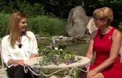Christina Sonntag und Kornelia Seiwald im ORF Fernsehgarten