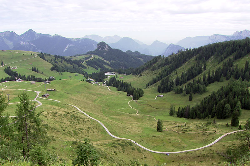Blick über das Plateau der Loferer Alm