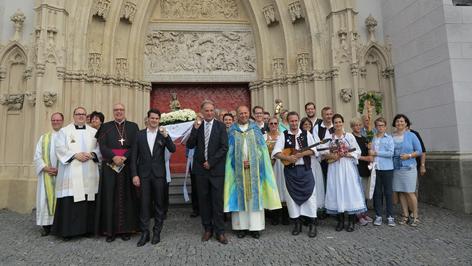 Bischof Zsikfkovits Mariazell Odobasits Zagersdorfer Pilger