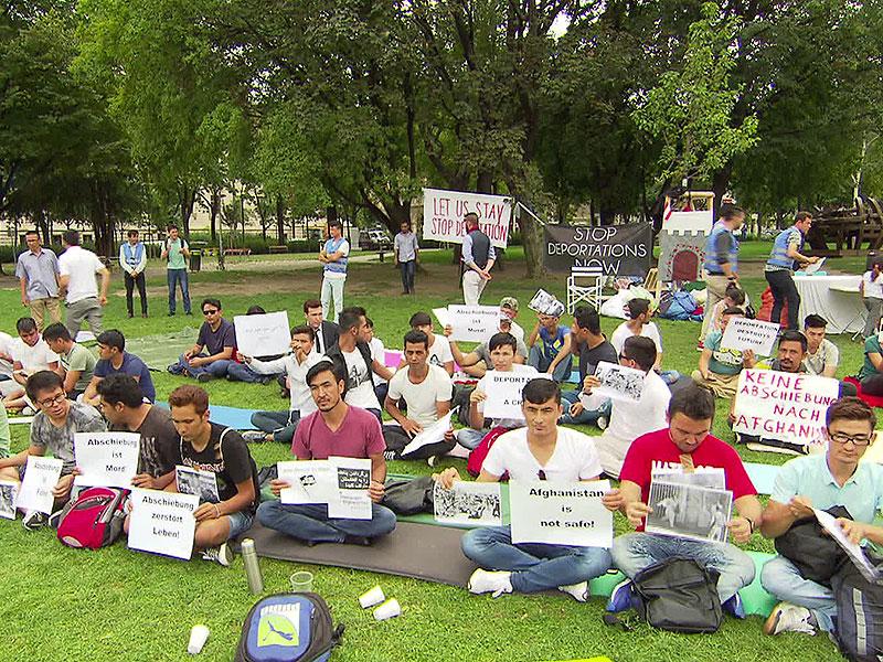 Protest gegen Abschiebungen nach Afghanistan