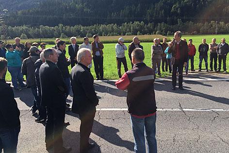 B100 Drautalbundesstraße Sperre Protestaktion Ausbau