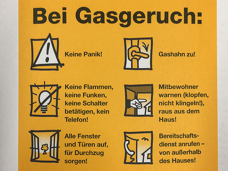 Gas Gasleitung Maßnahmen