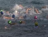 Kinder Sport Aquathlon Laufen Schwimmen