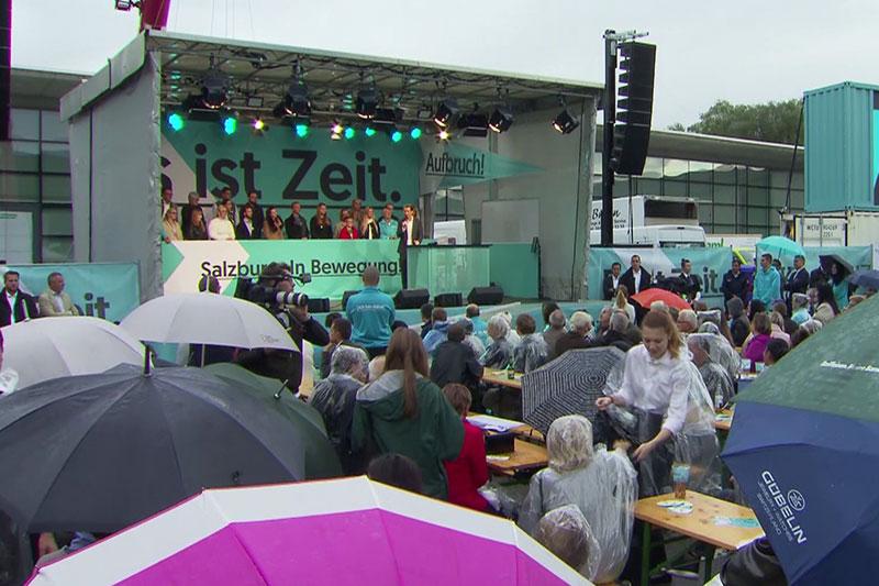 Wahlkampfauftritt von Sebastian Kurz im Salzburger Messezentrum