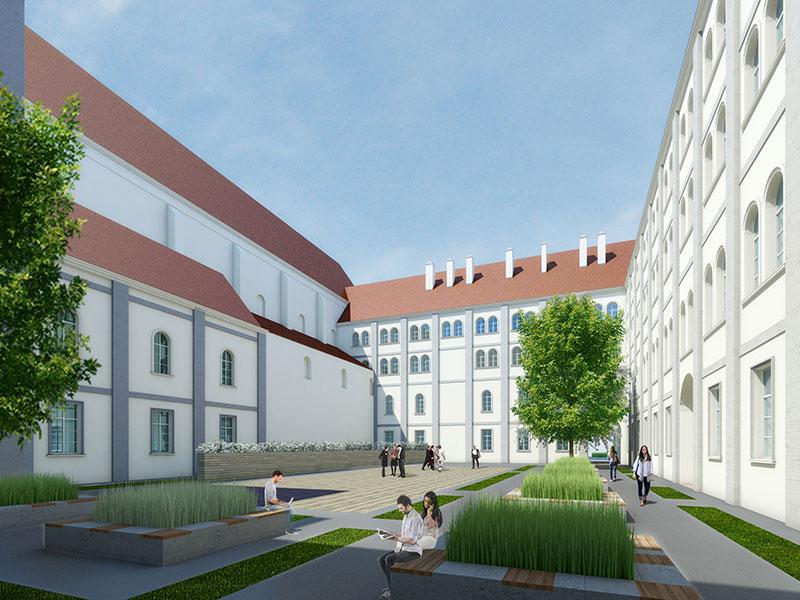 Projekt für Neugestaltung Innenhof der Akademie der Wissenschaften