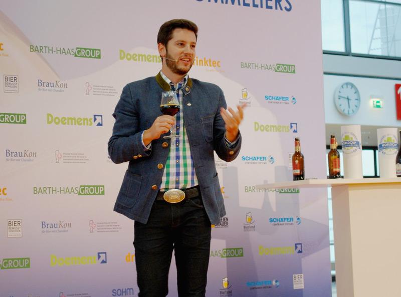 Felix Schiffner holte Silber bei der 5. Biersommelier-Weltmeisterschaft 2017 in München