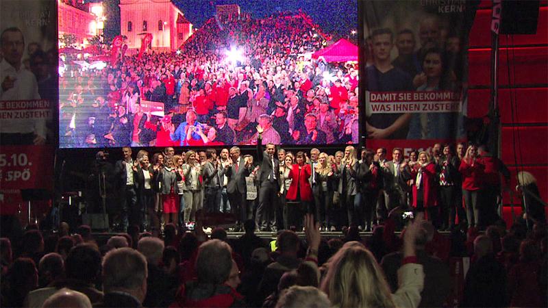 SPÖ Wahlkampfauftakt Linz Kern Gerstorfer Stöger AEC
