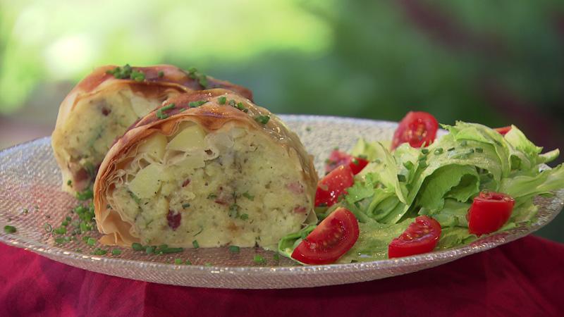 Lungauer Eachtling- bzw. Kartoffelstrudel