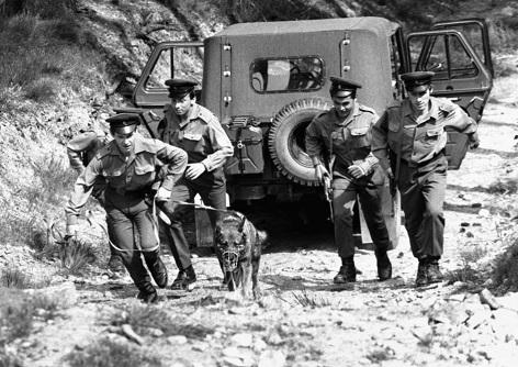 Pohraniční stráž na hranici s tehdejším západním Německem v roce 1982