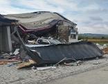 Haus nach Explosion in Aspersdorf