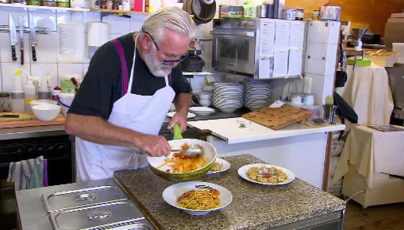 Gottfried Wieser in der Küche